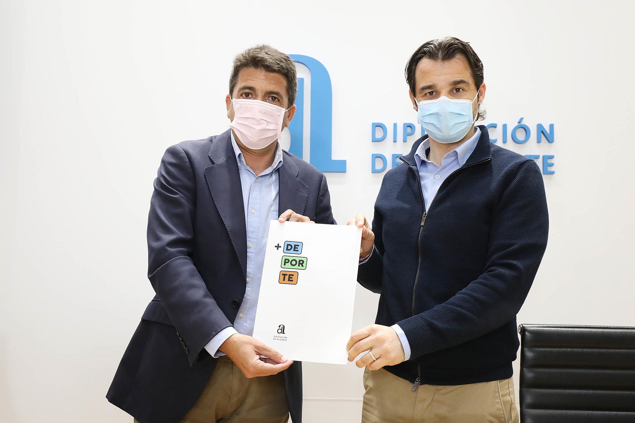 El presidente de la Diputación, Carlos Mazón, y el diputado Eduardo Dolón.