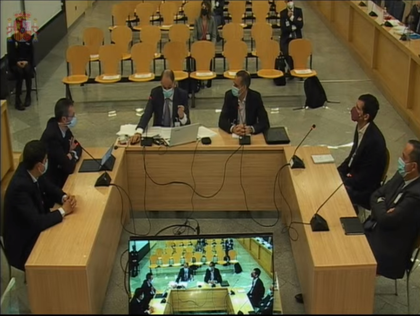 Los agentes de la Udef en el juicio de la caja B. De frente a la izquierda, Manuel Morocho.