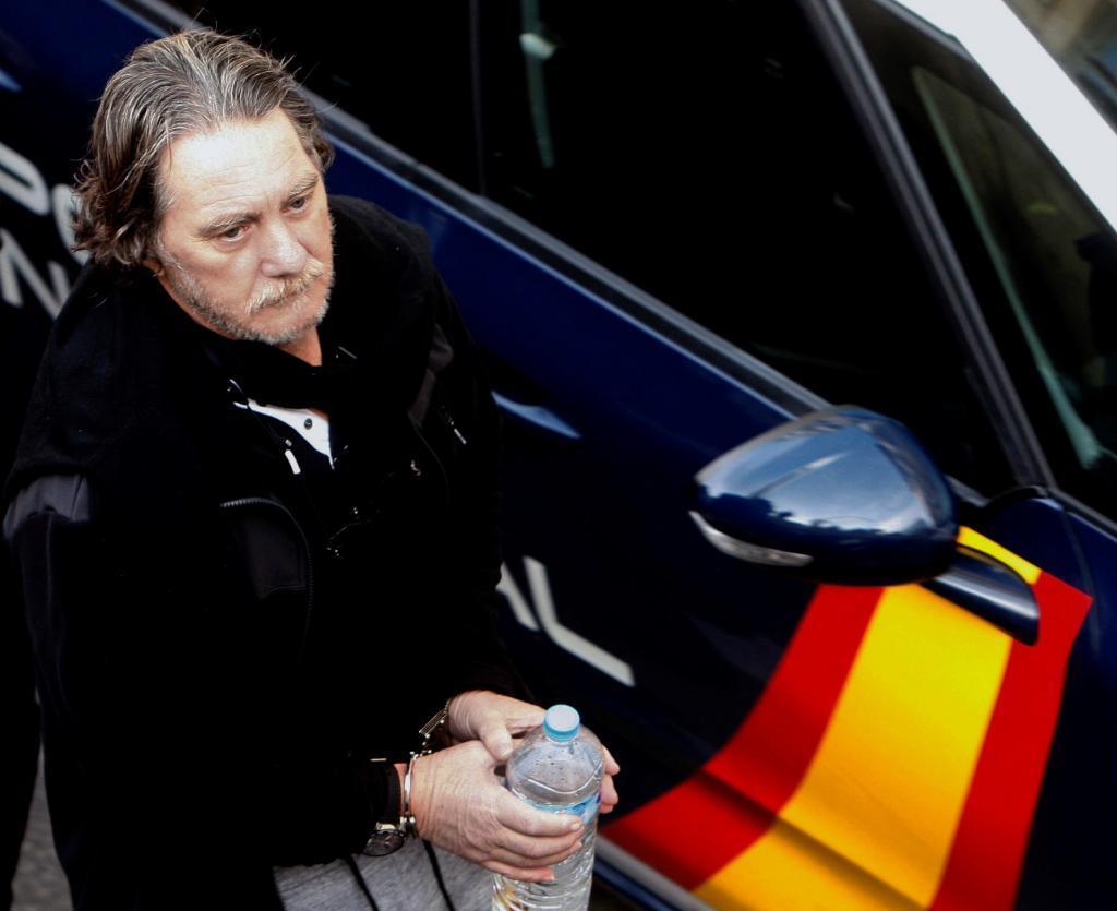 Sito Miñanco, a su llegada a un juicio a la Audiencia de Pontevedra.