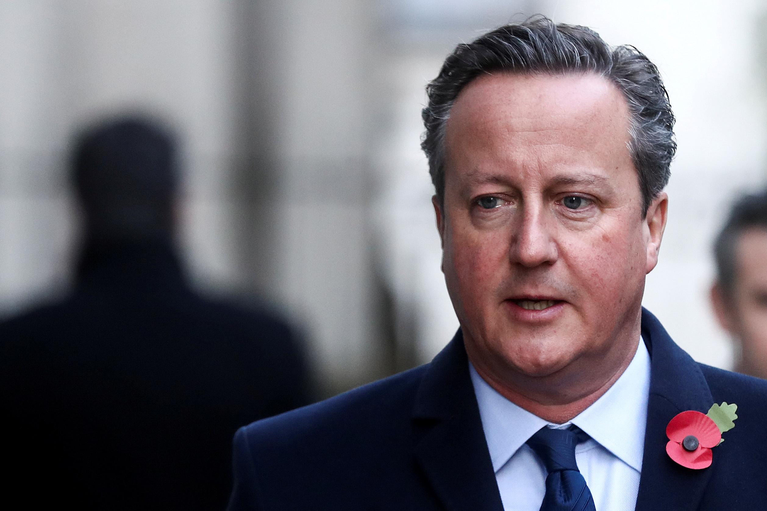 El ex 'premier' David Cameron.