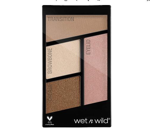 El paso a paso de un maquillaje fácil, natural y favorecedor: Sombras de ojos Color Icon Eyeshadow Quads de Wet n Wild.
