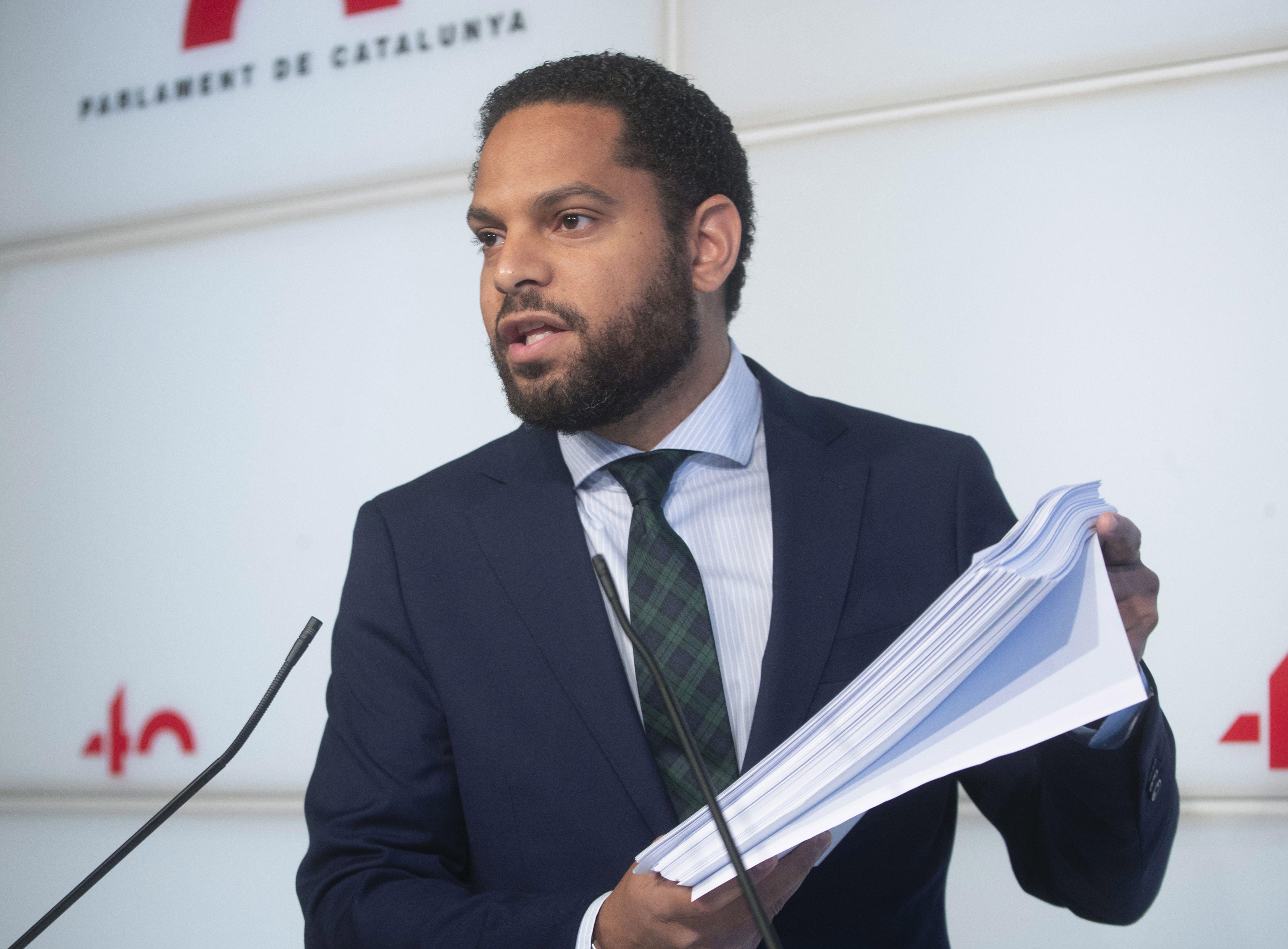 El líder de Vox en el Paralment, Ignacio Garriga.