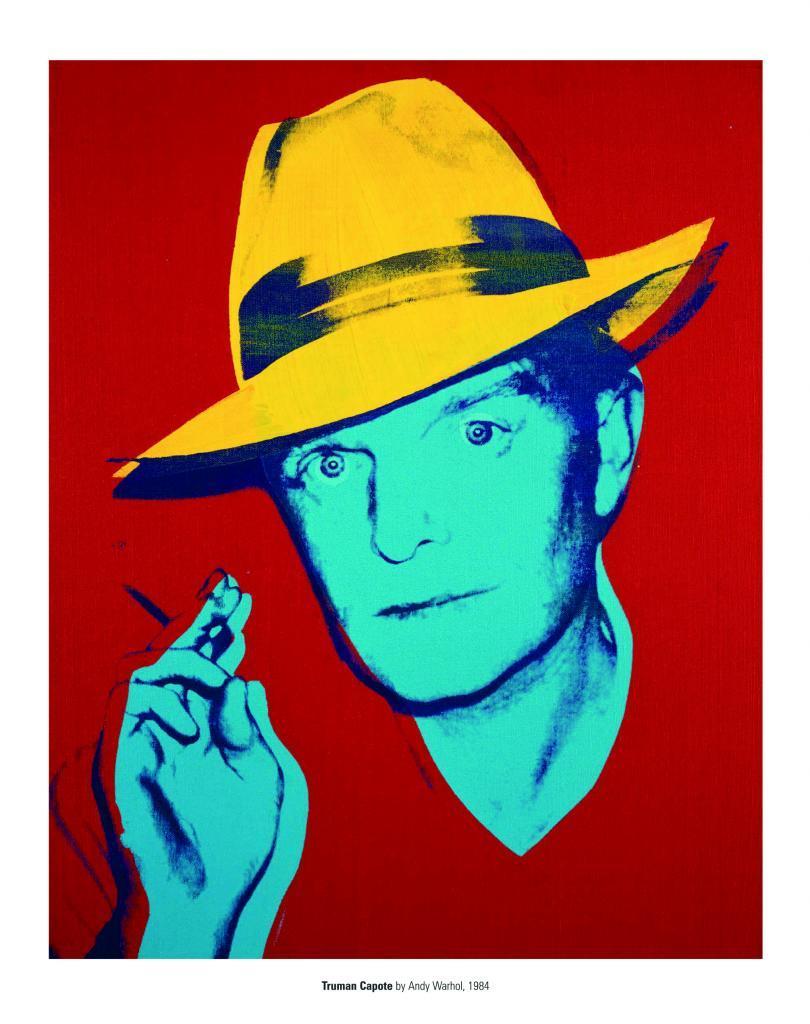 Retrato de Truman Capote, realizado por Andy Warhol.