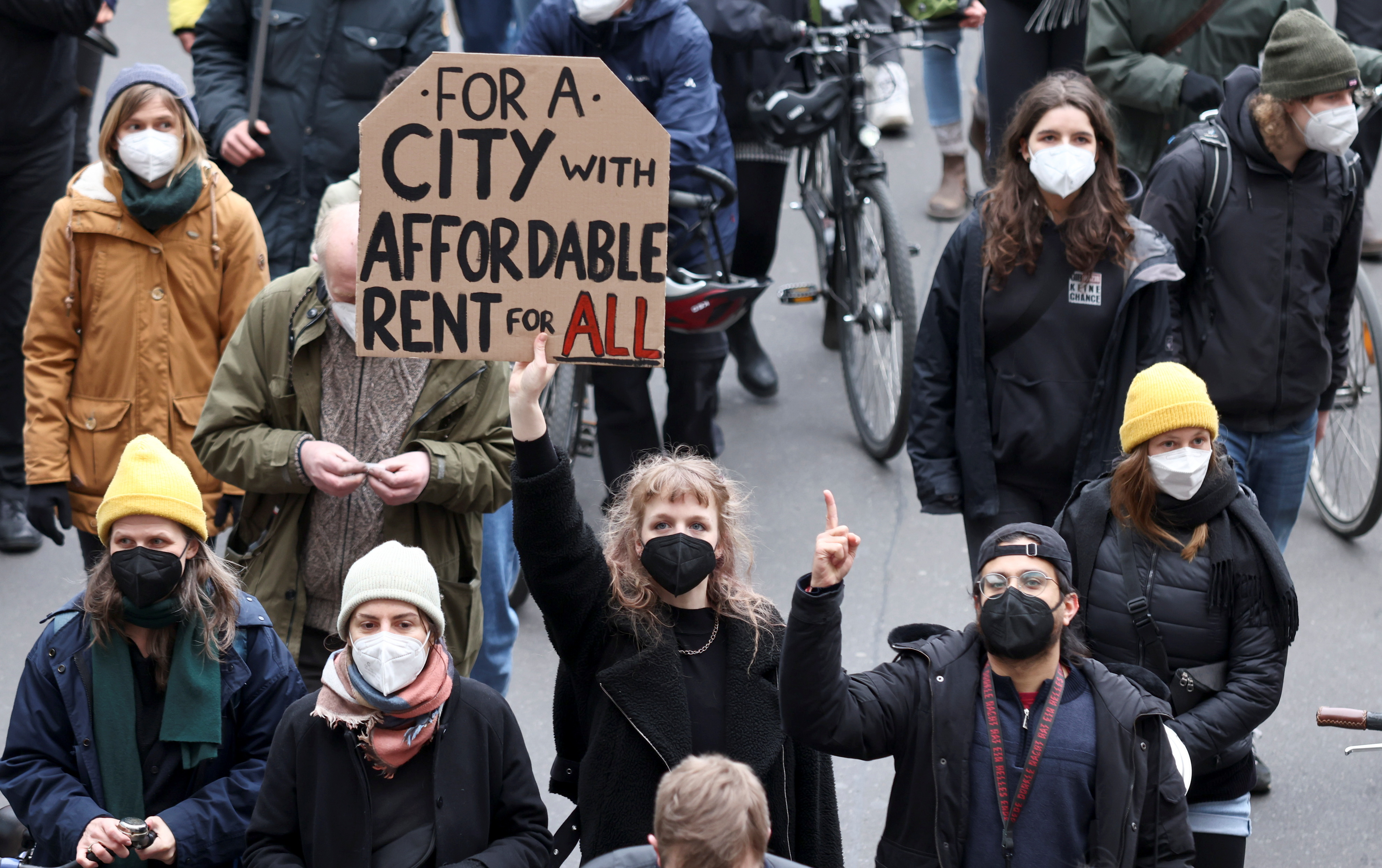Manifestantes contra la sentencia del Tribunal Constitucional alemán sobre el alquiler.