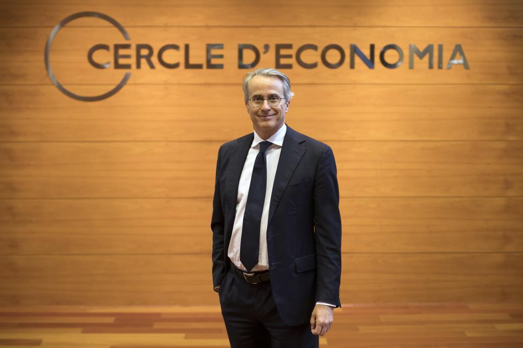 Javier Faus, presidente del Círculo de Economía, en la sede de Barcelona.