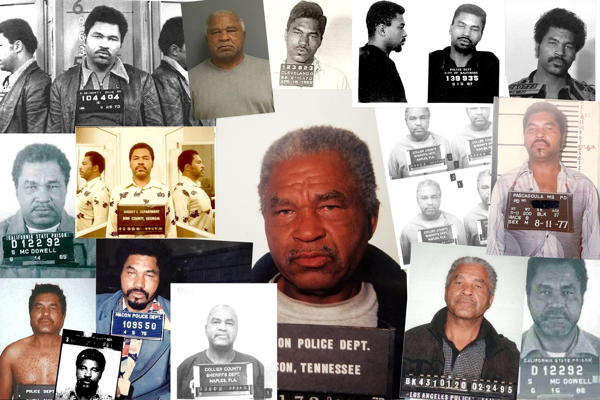 Collage del FBI con las fotos de Samuel Little