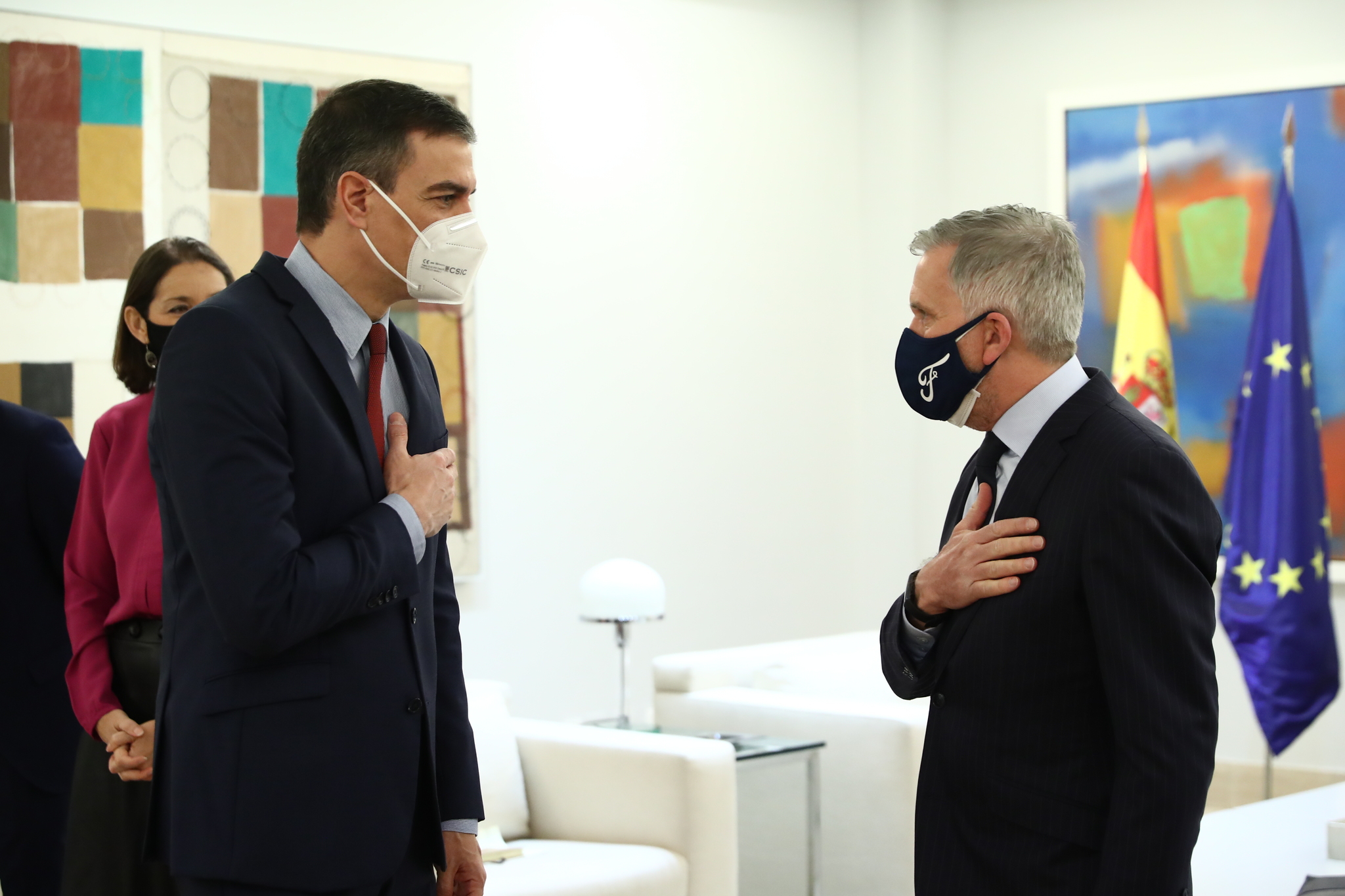 Sánchez se reune con Stuart Rowley, presidente de Ford Europa