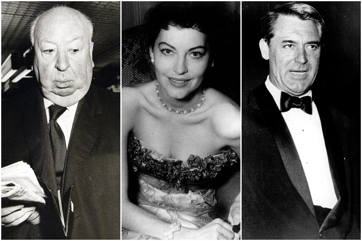 Alfred Hitchcock, Ava Gardner y Cary Grant estuvieron entre los invitados al enlace.