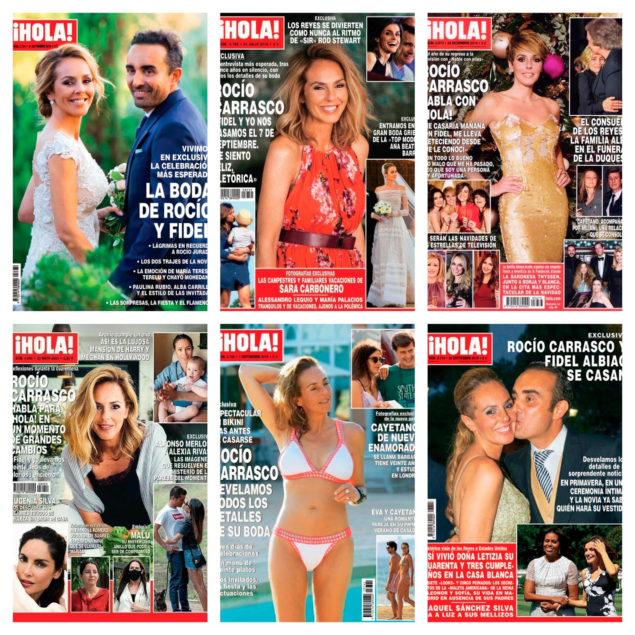 Portadas de la revista '¡Hola!', con las exclusivas de Rocío Carrasco.