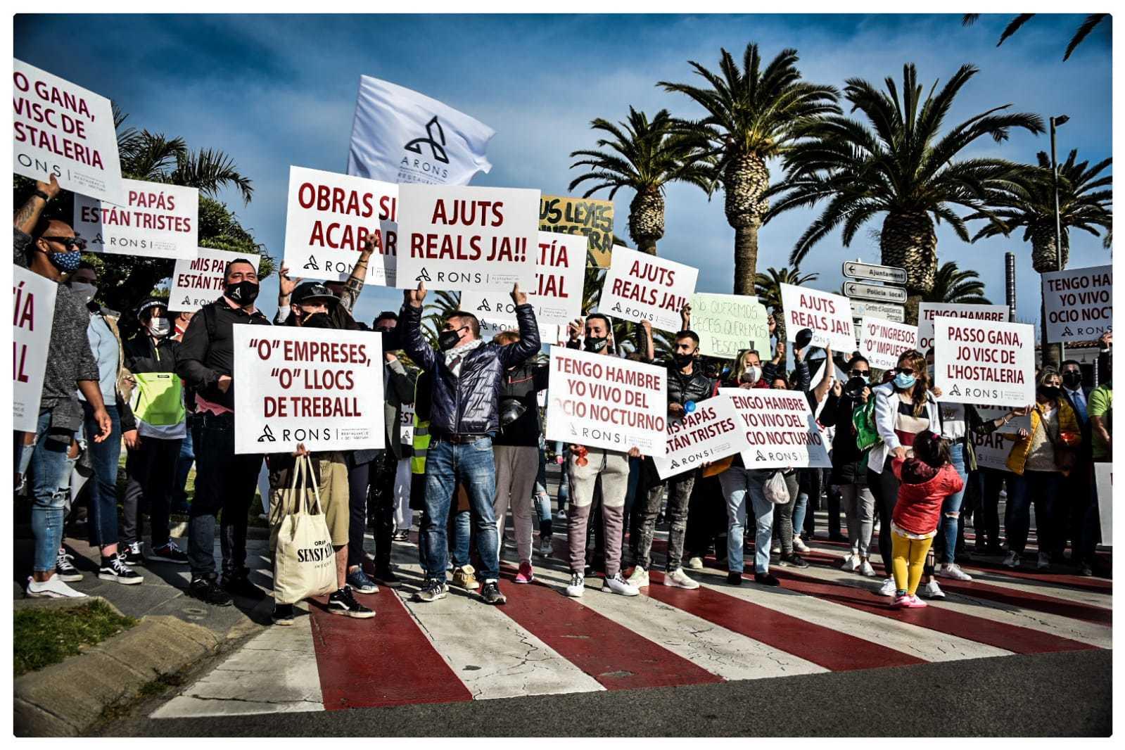 Imagen de la protesta en Salou
