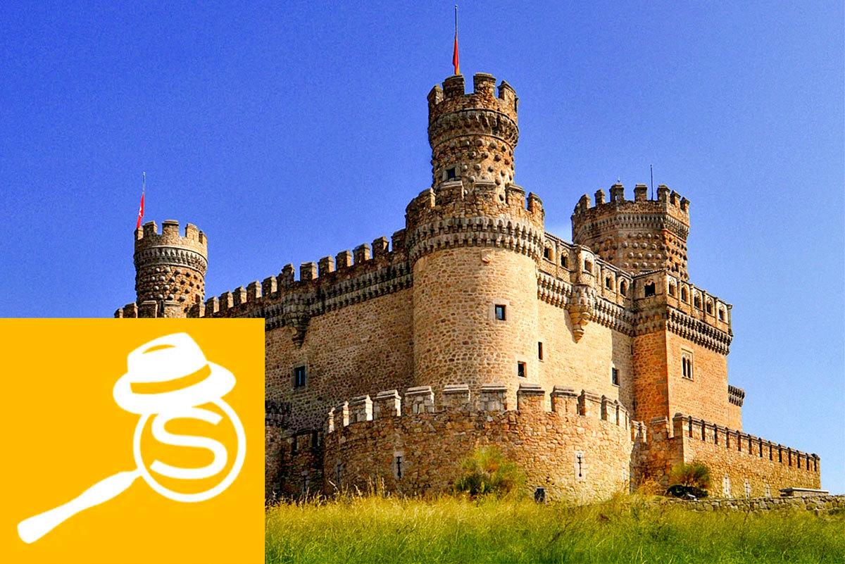 Castillo de Manzanares el real, una de las ubicaciones las que nos lleva la aplicación.