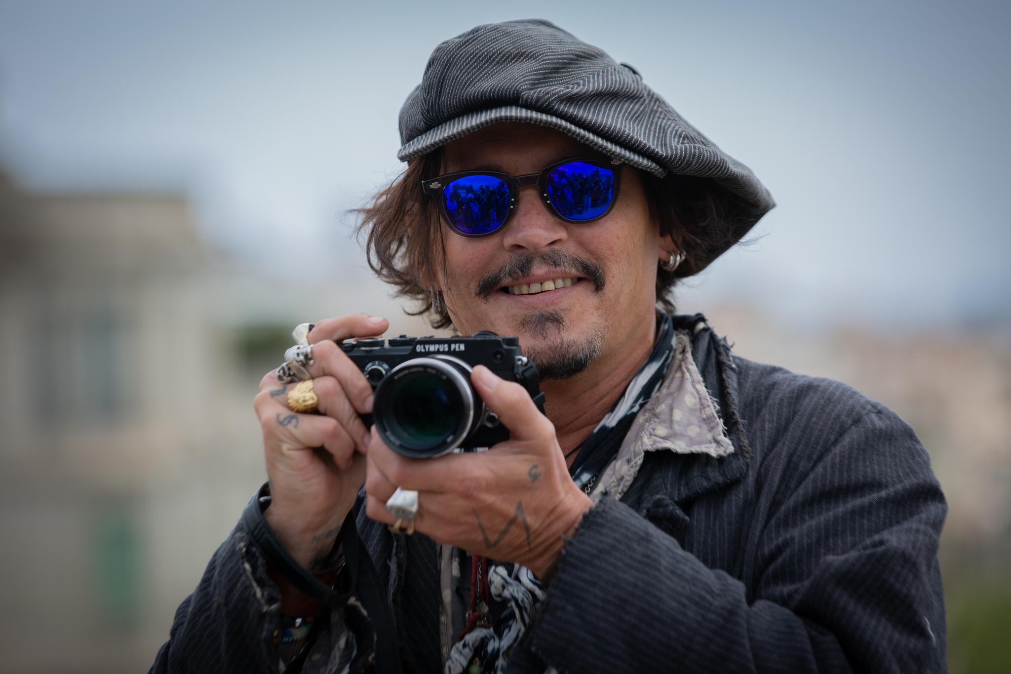 Johnny Depp, ayer en Barcelona.