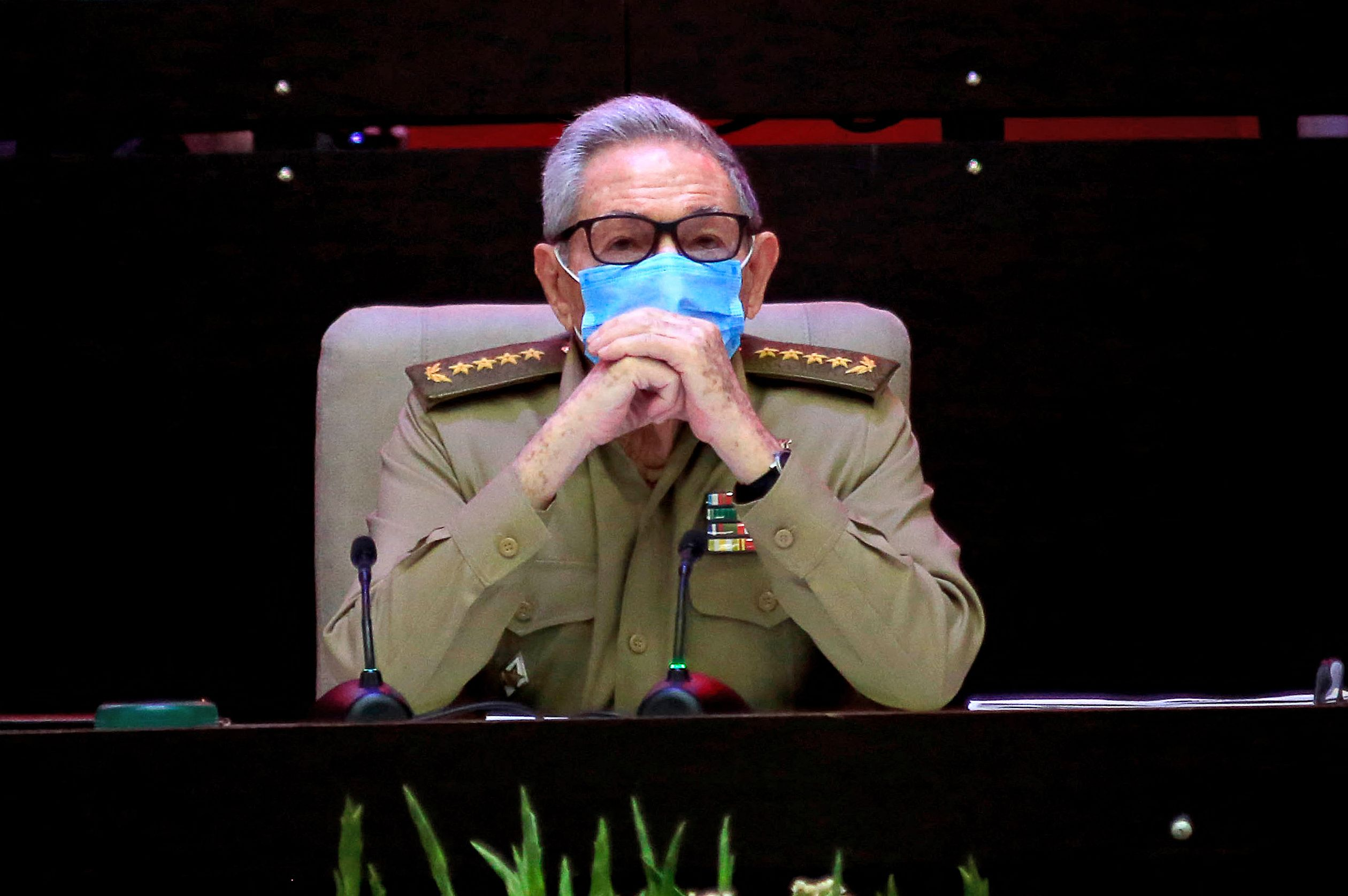 Raúl Castro, en VIII el Congreso.