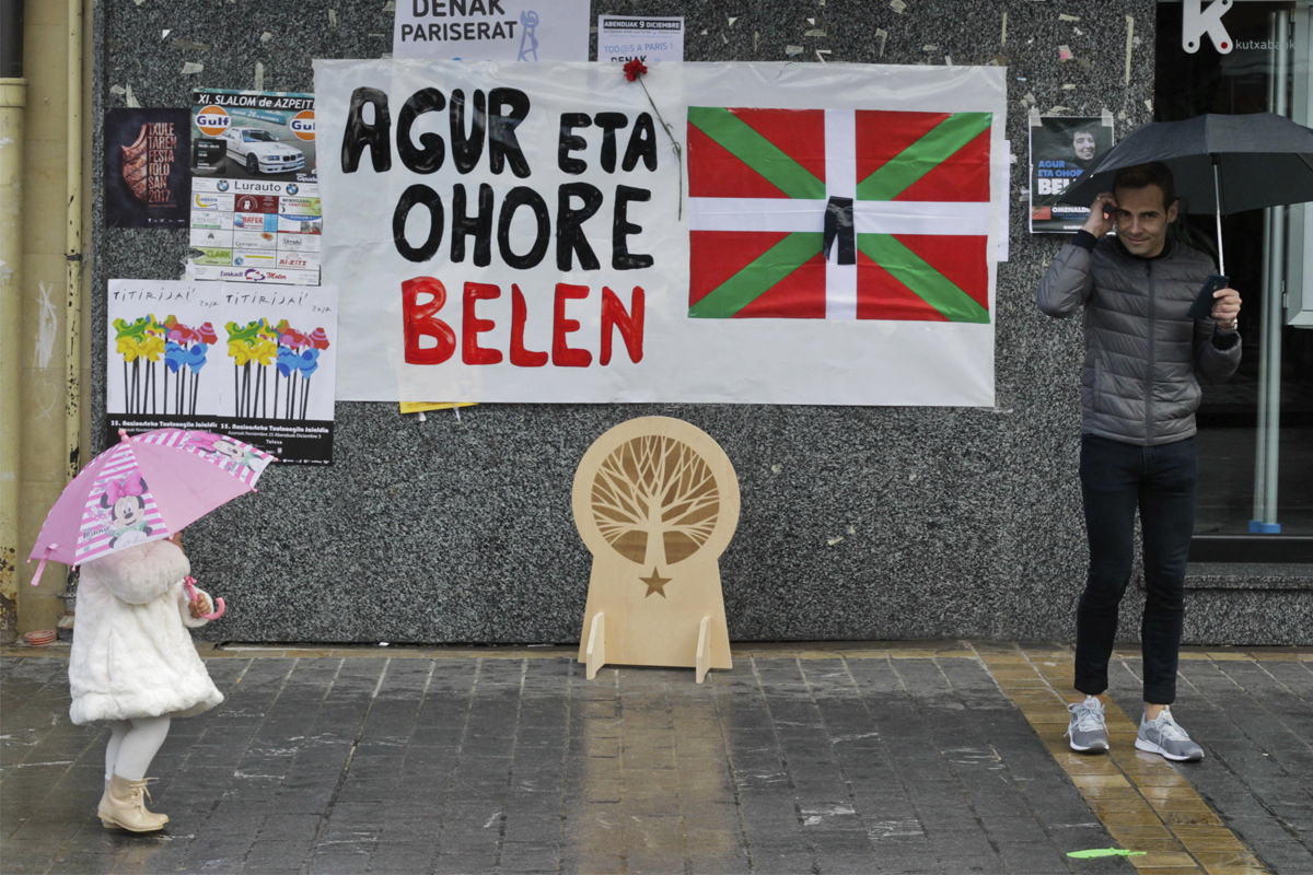 Homenaje a la dirigente de ETA Belén González Peñalba en Lazkao (Guipúzcoa).