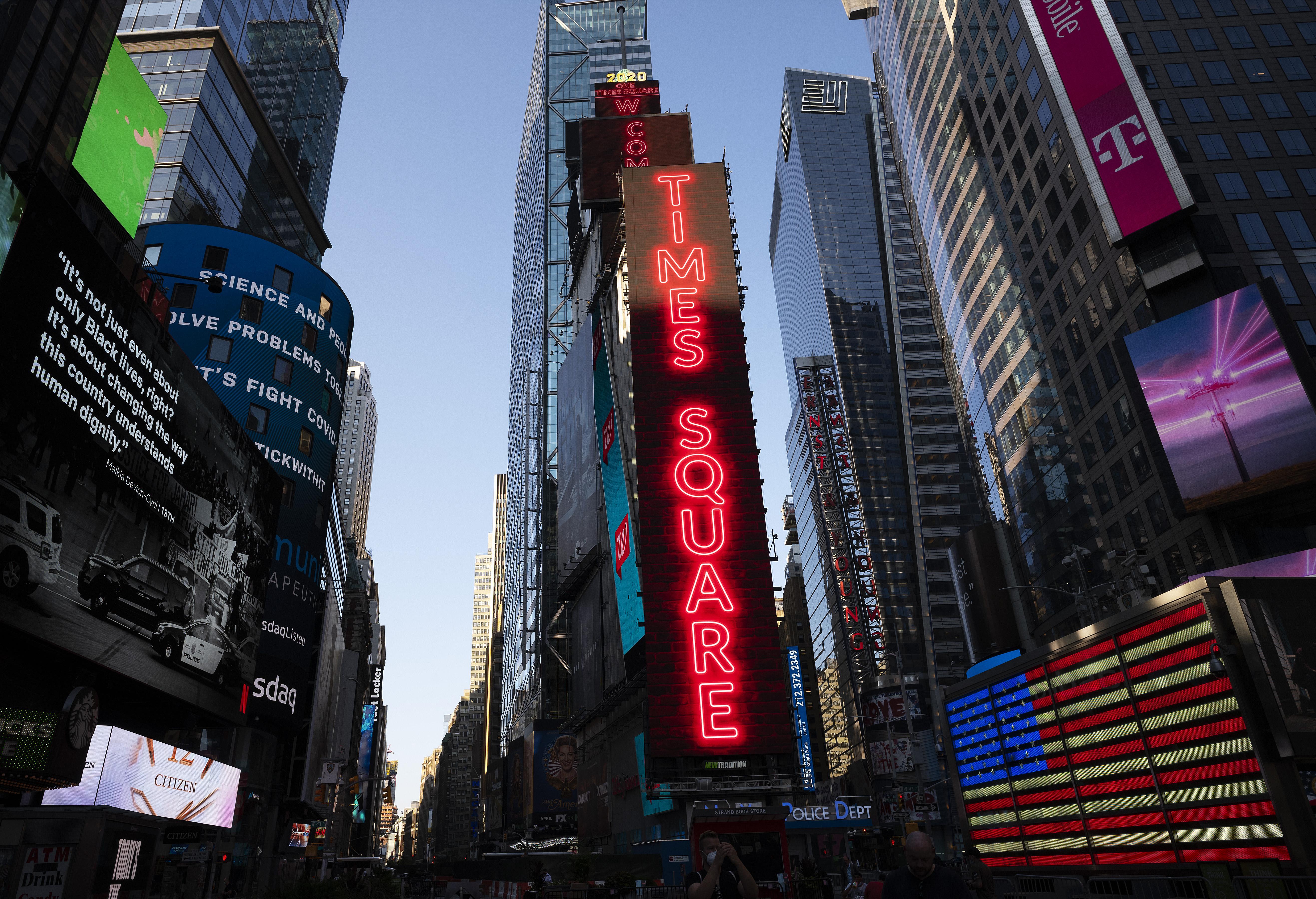 Imagen de archivo de la icónica plaza de Times Square, en Nueva York (EEUU).