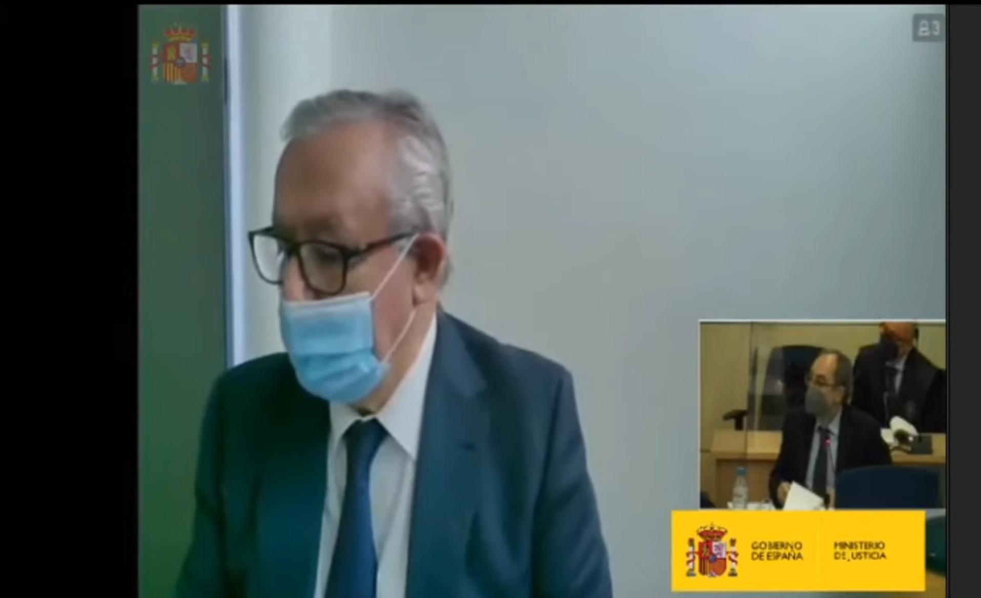 Javier Arenas, en el juicio de la 'caja B' del PP.