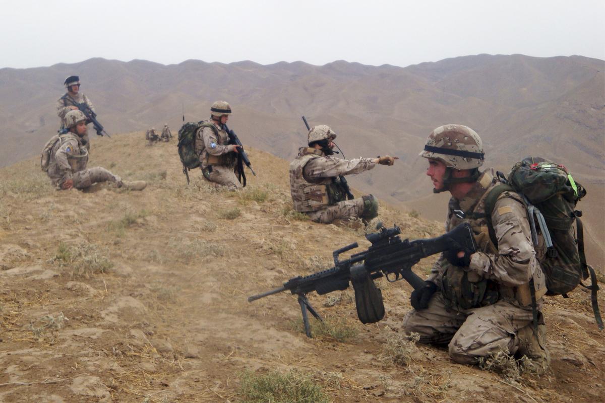 Militares españoles en distintas misiones en Afganistán.