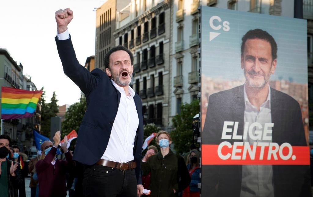 Edmundo Bal, en el acto de arranque de la campaña de Ciudadanos en Madrid.