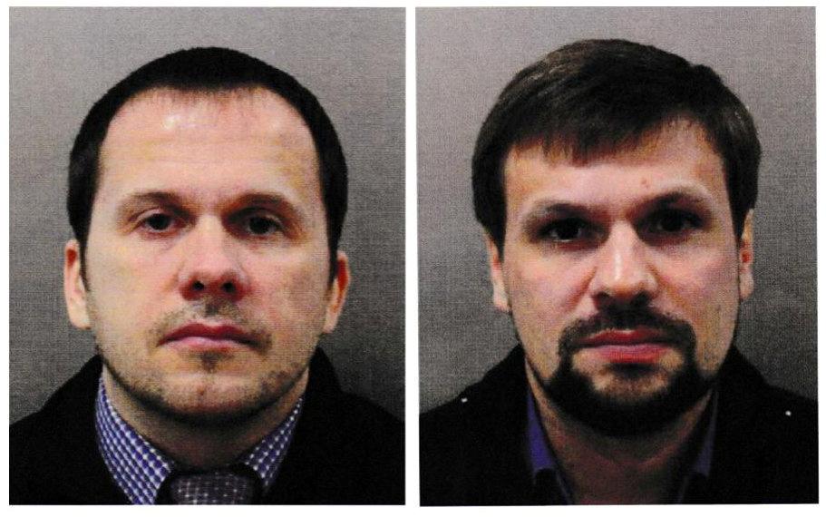 Alexander Petrov y Ruslan Boshirov, los dos sospechosos en el intento de asesinato del exespía ruso Sergei Skripal y su hija Yulia en Salisbury (Reino Unido) en 2018.