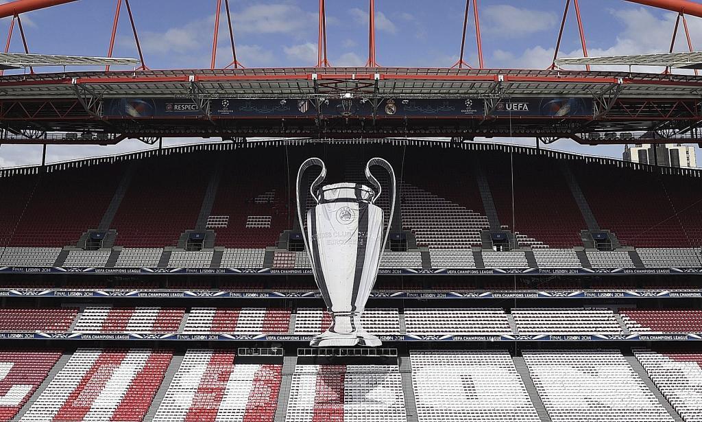 Imagen de la final de la Champions de 2014 en Lisboa.