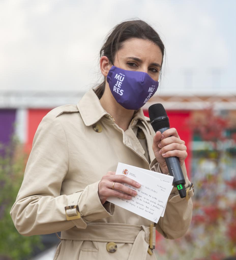 Irene Montero, en un acto de precampaña de Podemos sobre Derechos LGTBI.