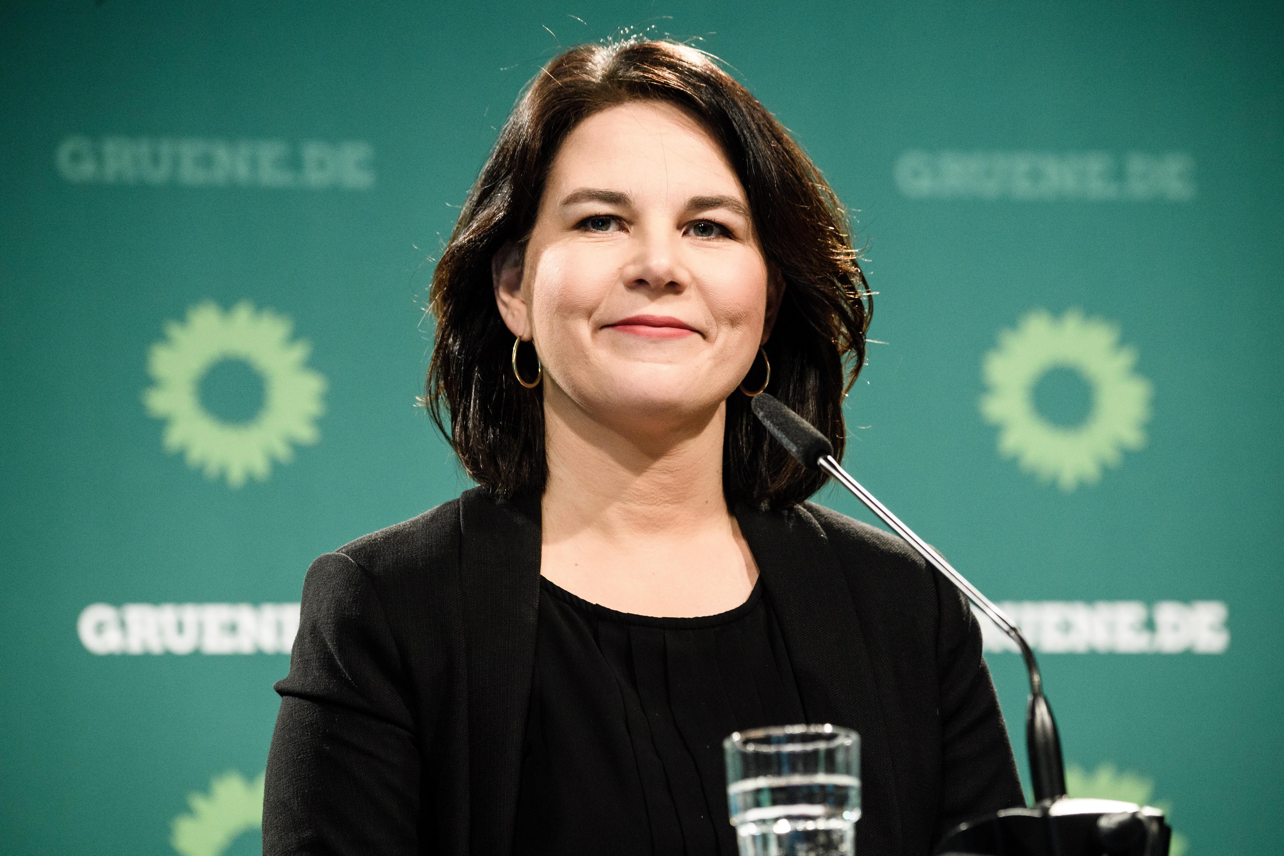 La candidata de Los Verdes, Annalena Baerbock.