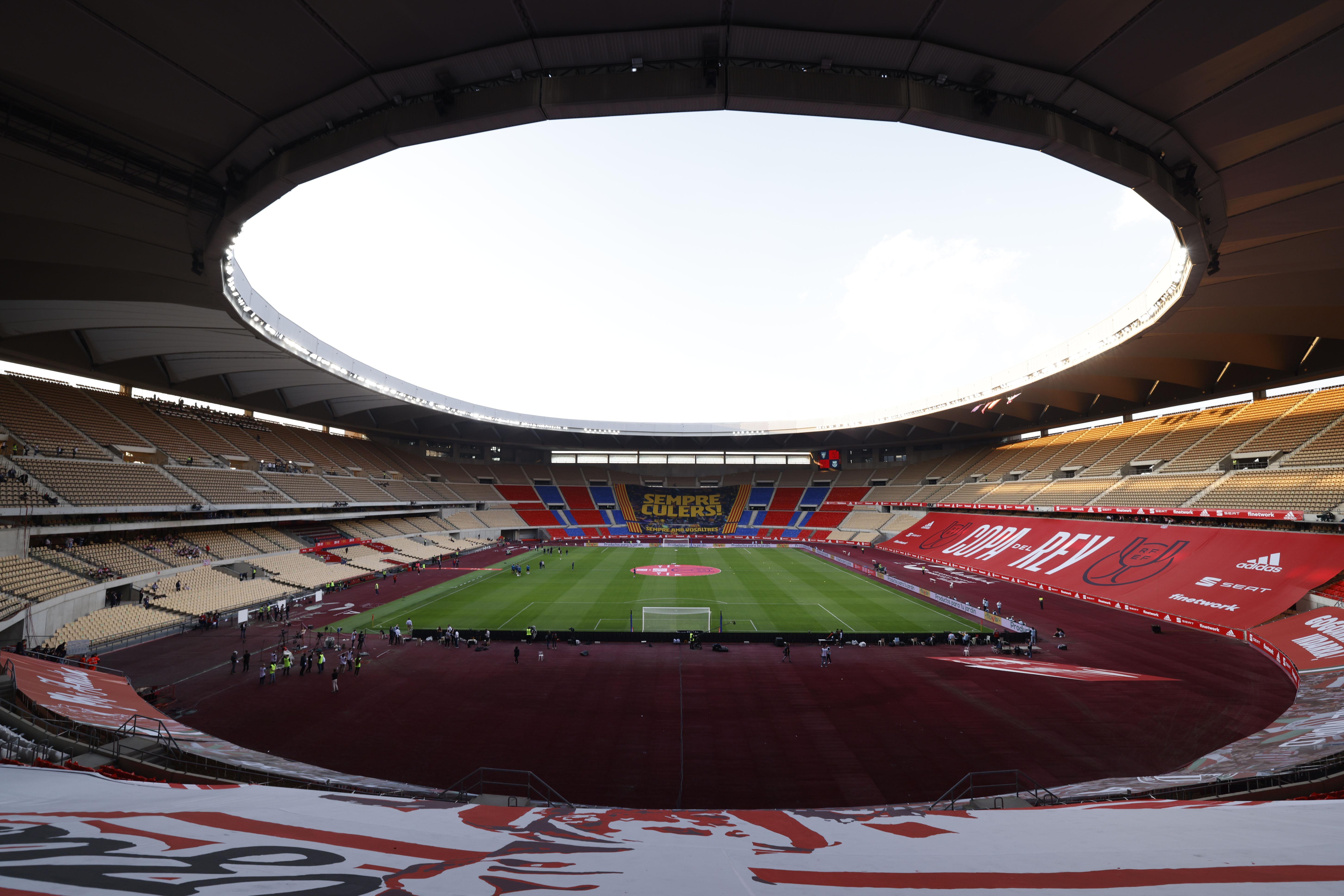 Imagen de La Cartuja, antes de la final de la Copa.