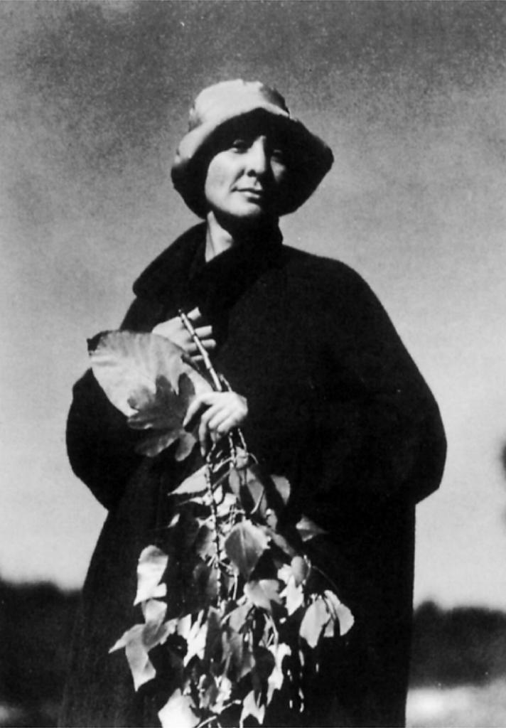 La pintora Georgia O'Keeffe