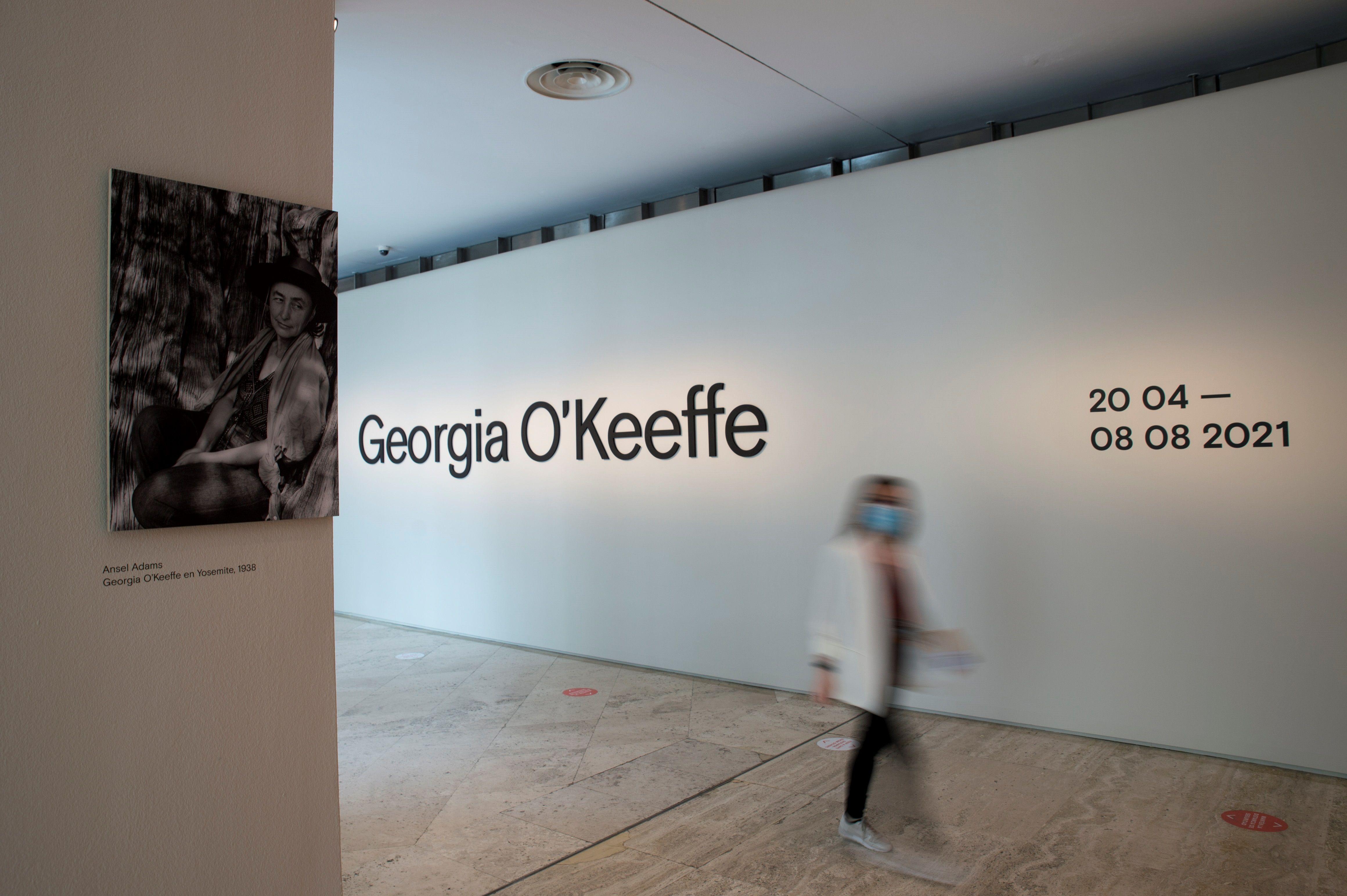 Vista de la exposición que el Museo Thyssen dedica a Georgia O'Keeffe