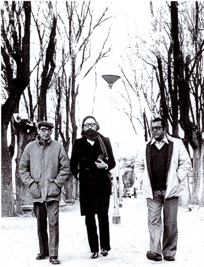 Delibes, Umbral y Manu Leguineche, en Valladolid.