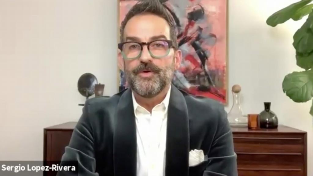 El maquillador Sergio López-Rivera.