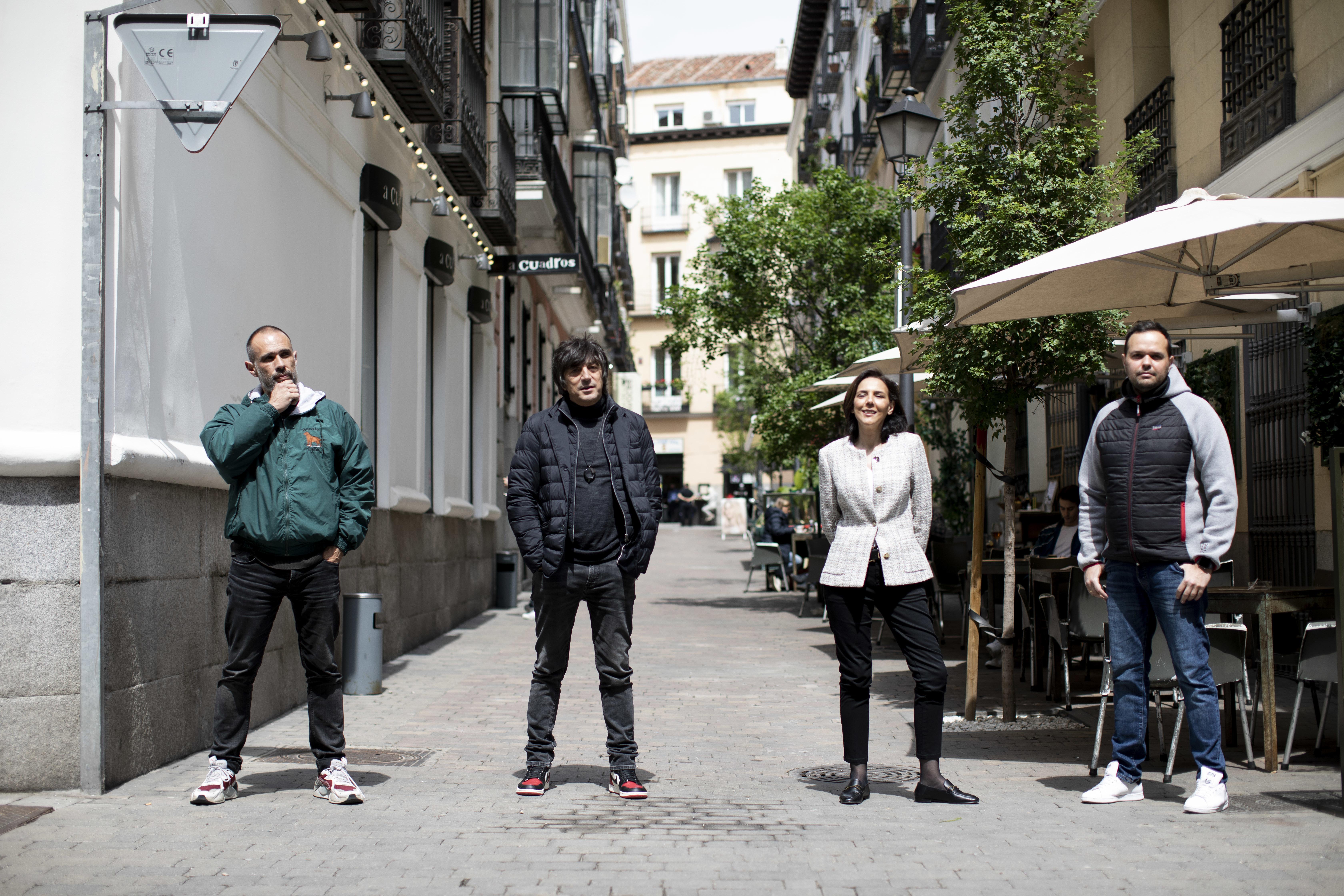 Teo Mariscal, Santi Carbones, Yolanda Tejero y Sergio Blanco, propietarios de locales