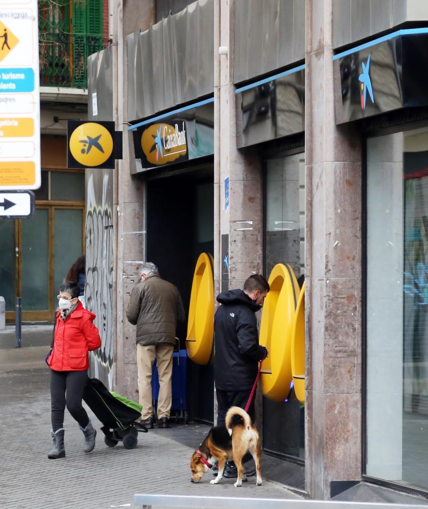 Sucursal de CaixaBank en Barcelona.