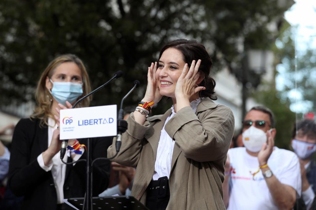 Isabel Díaz Ayuso, en Fuenlabrada.