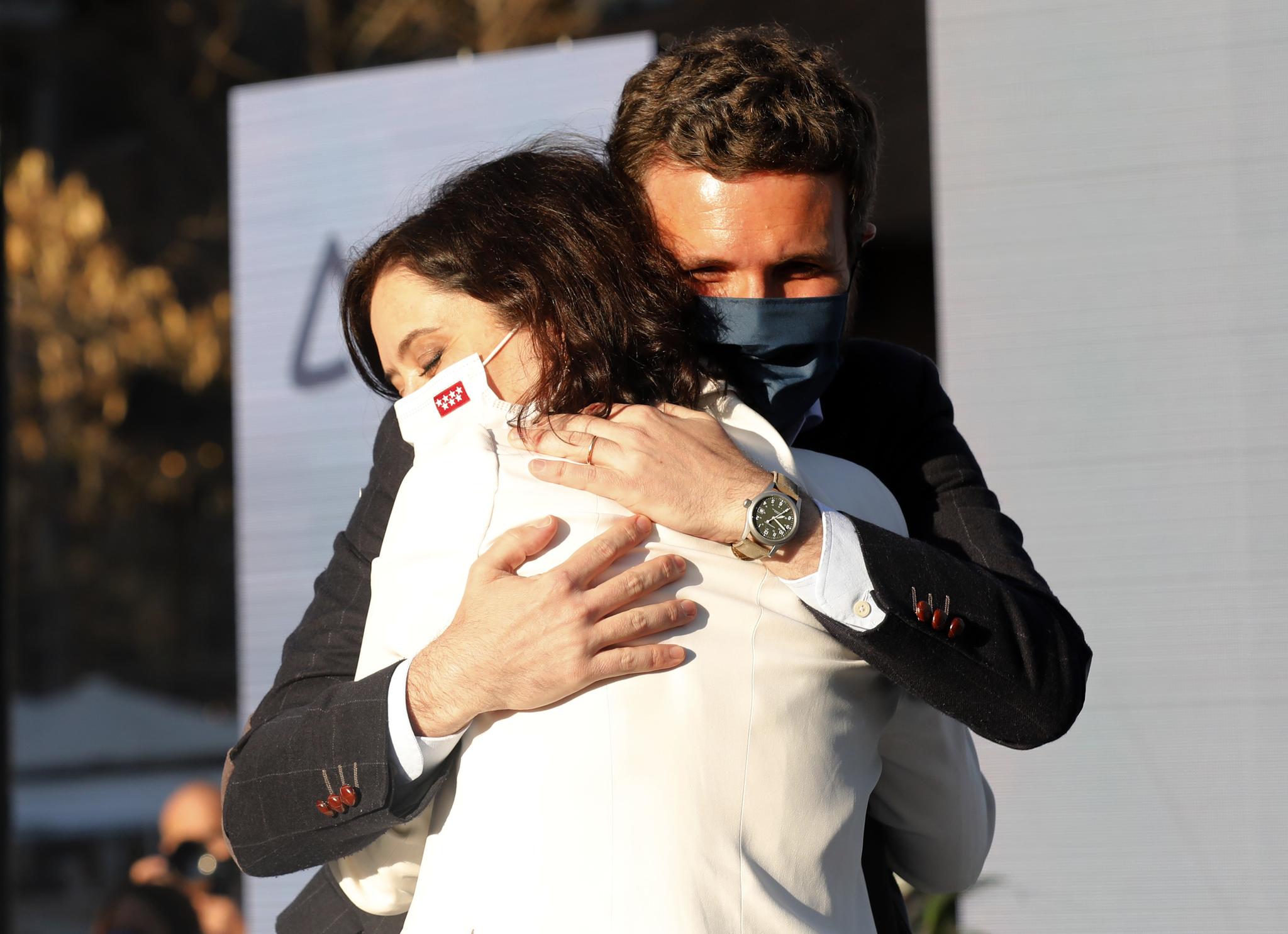 Pablo Casado e Isabel Díaz Ayuso, en Madrid.
