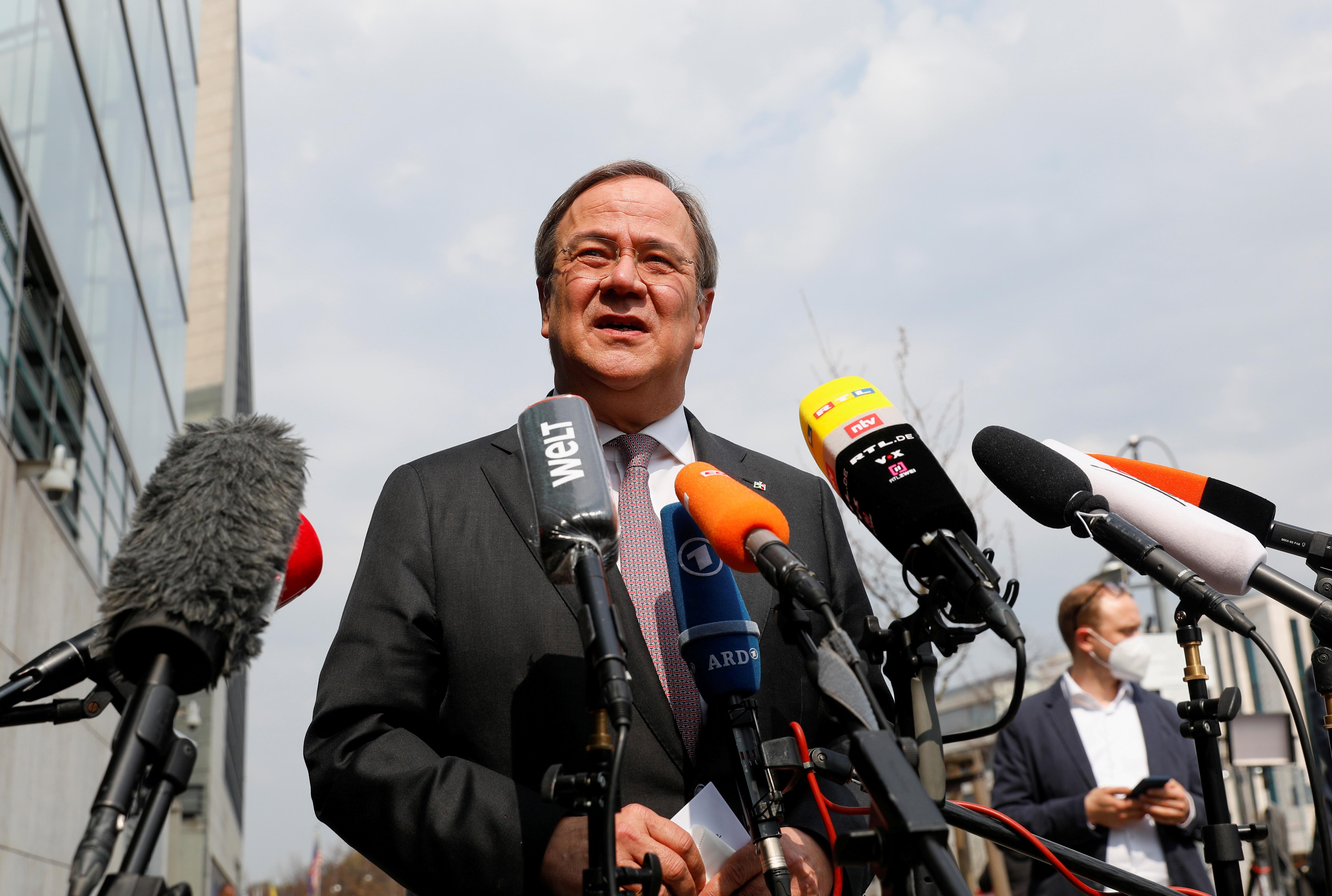 El presidente de la CDU, Armin Laschet.