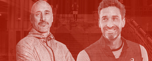Germán Madrazo, coach motivacional, y Pablo Lucero, fundador y entrenador del club deportivo BcnMadTriatlón.