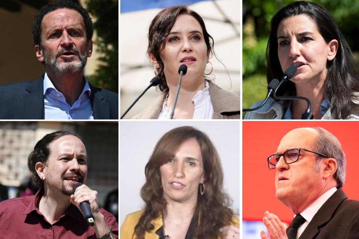 candidatos elecciones comunidad de madrid 2021