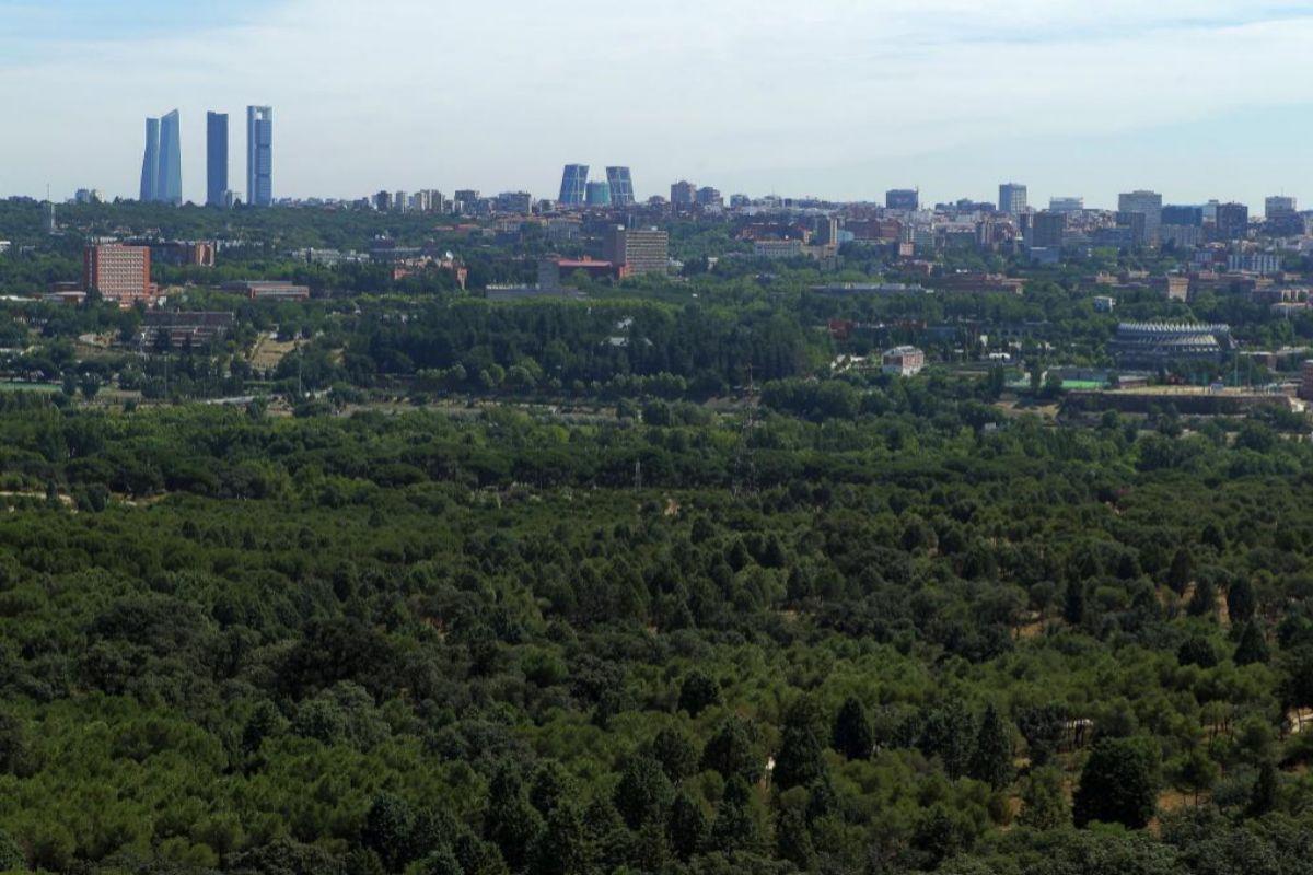 Vista de Madrid desde el Cerro Garabitas.