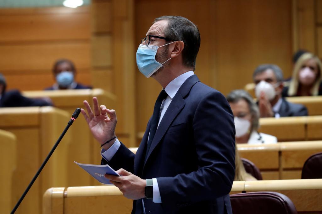 Javier Maroto, durante un Pleno en el Senado.