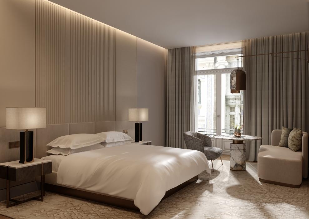 Una futura habitación del JW Marriott Madrid.