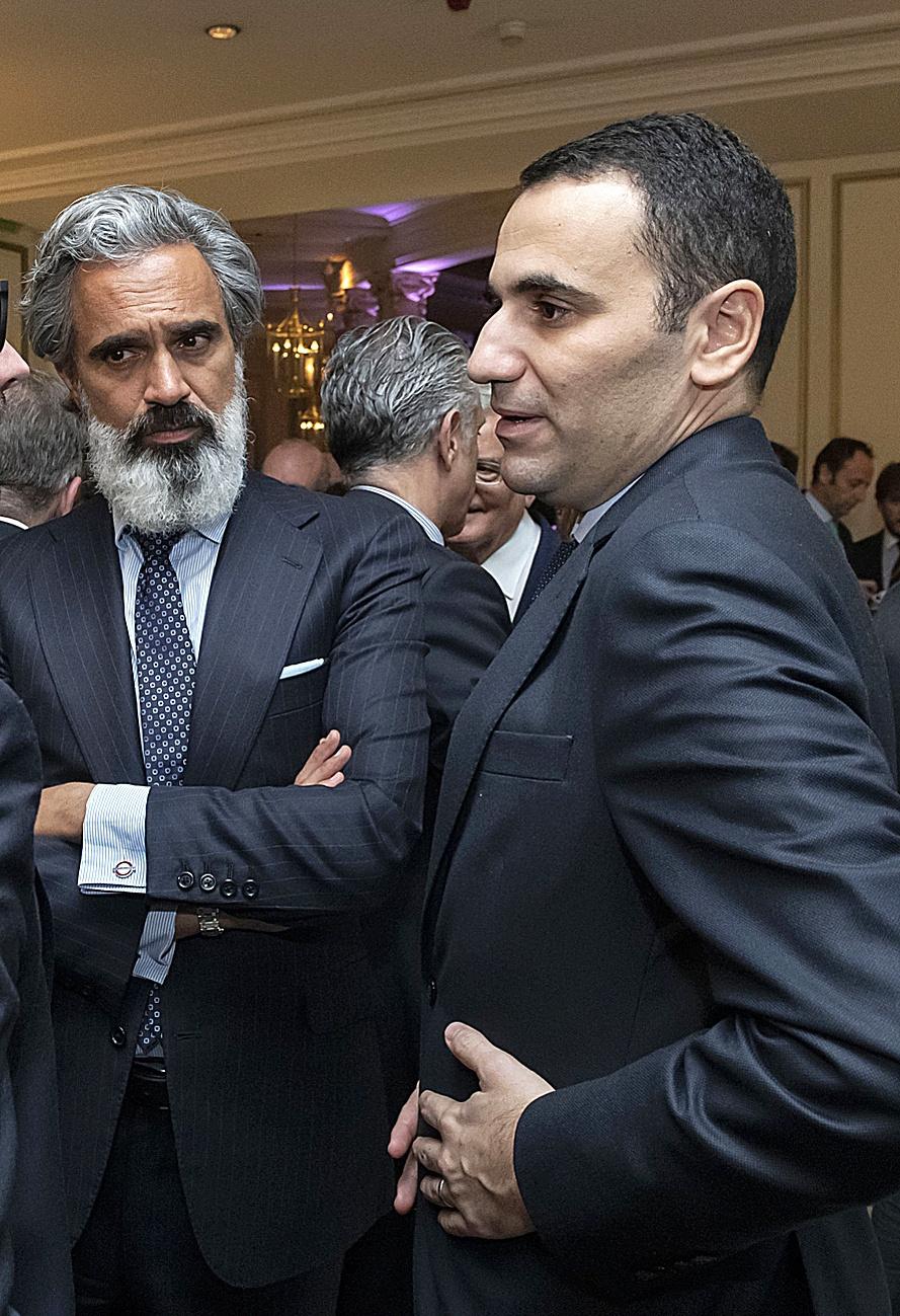 Anas Laghrari (a la derecha) y su socio el presidente de Key Capital, Alex Matitia.