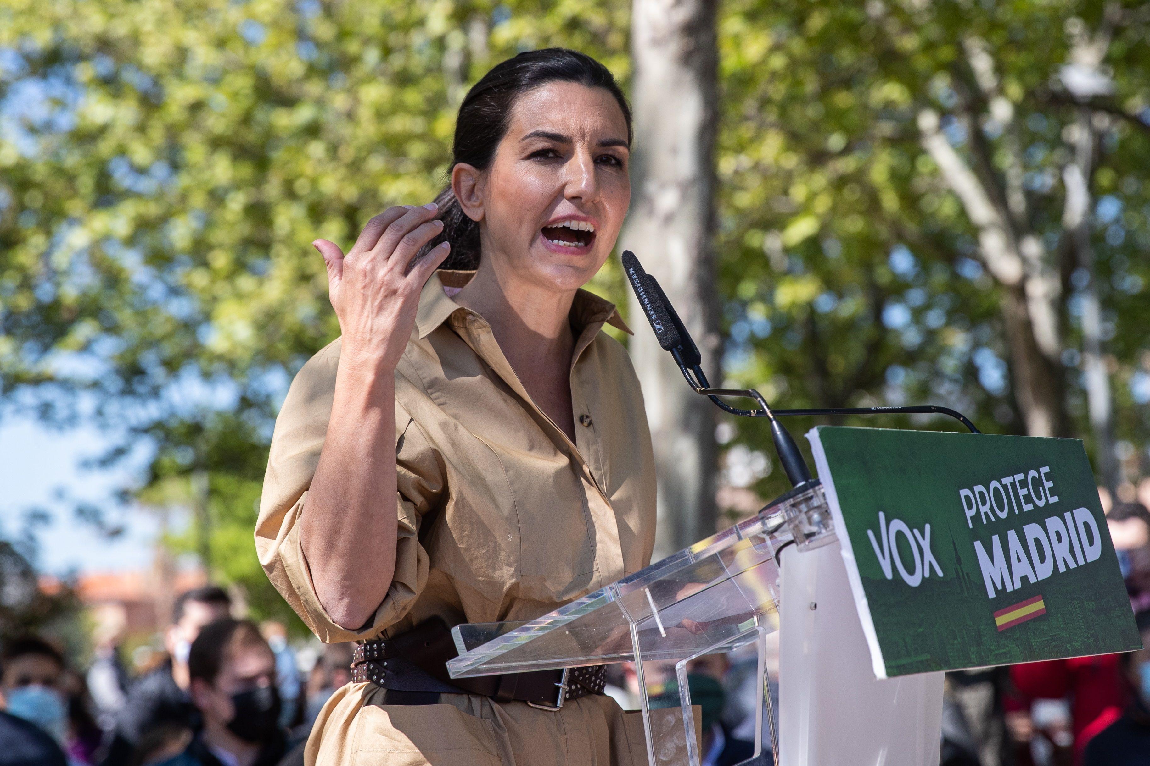 La aspirante de Vox, Rocío Monasterio.