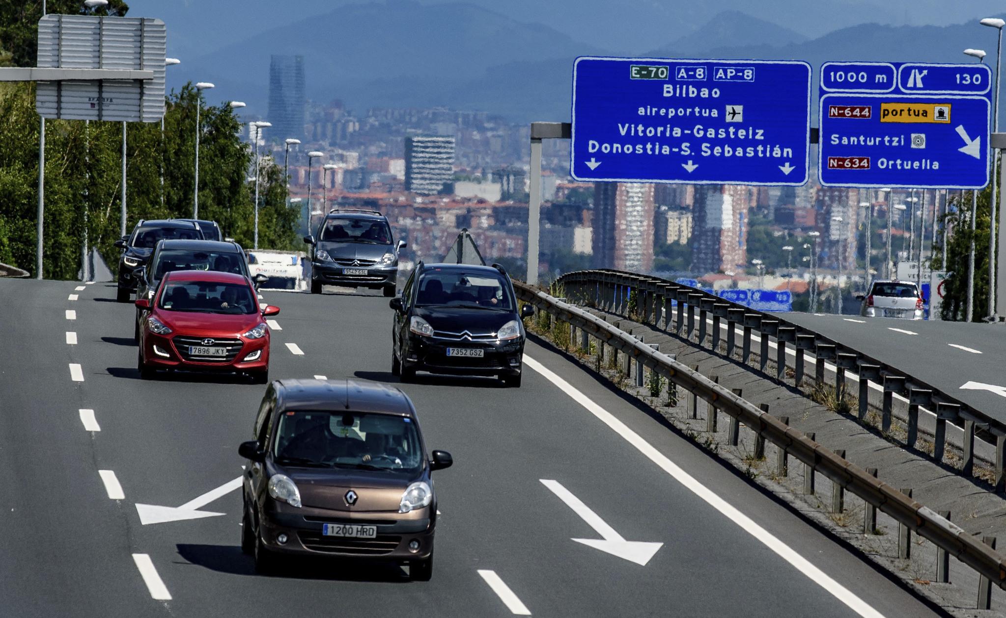 Autovía A8 a su paso por Vizcaya