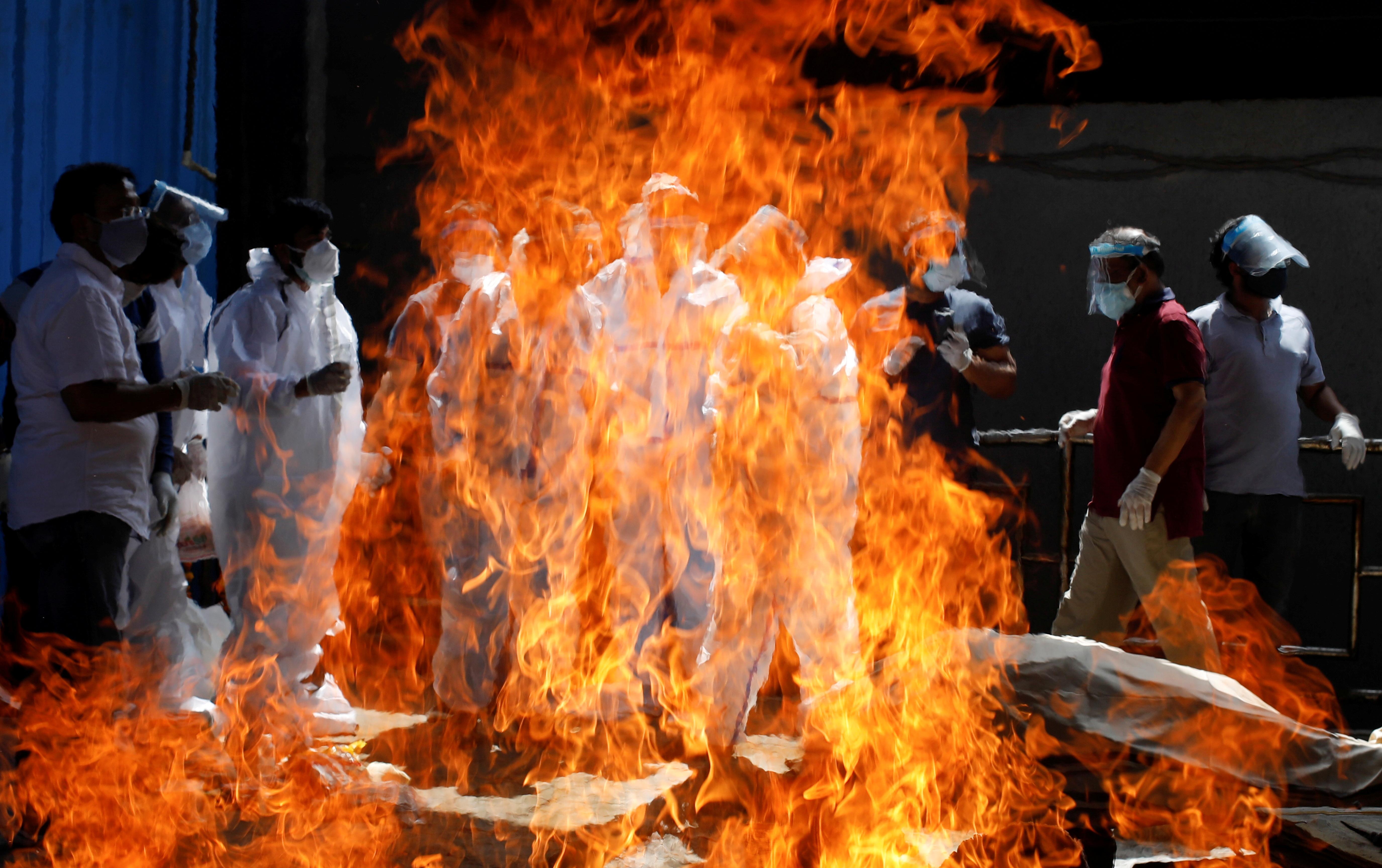 Funeral de un fallecido por Covid en Nueva Delhi.