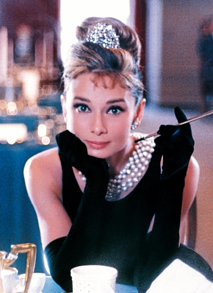 La actriz Audrey Hepburn.