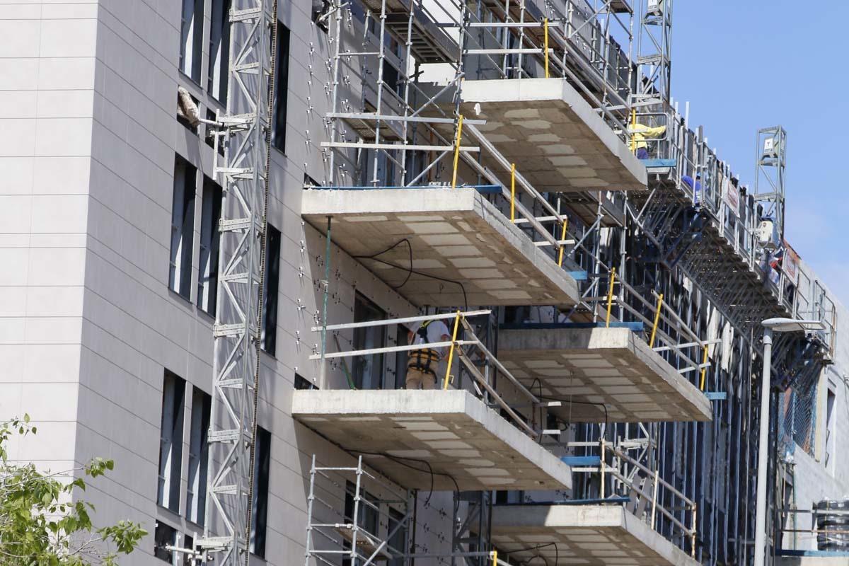 Construcción de un edificio de viviendas en la ciudad de Castellón.