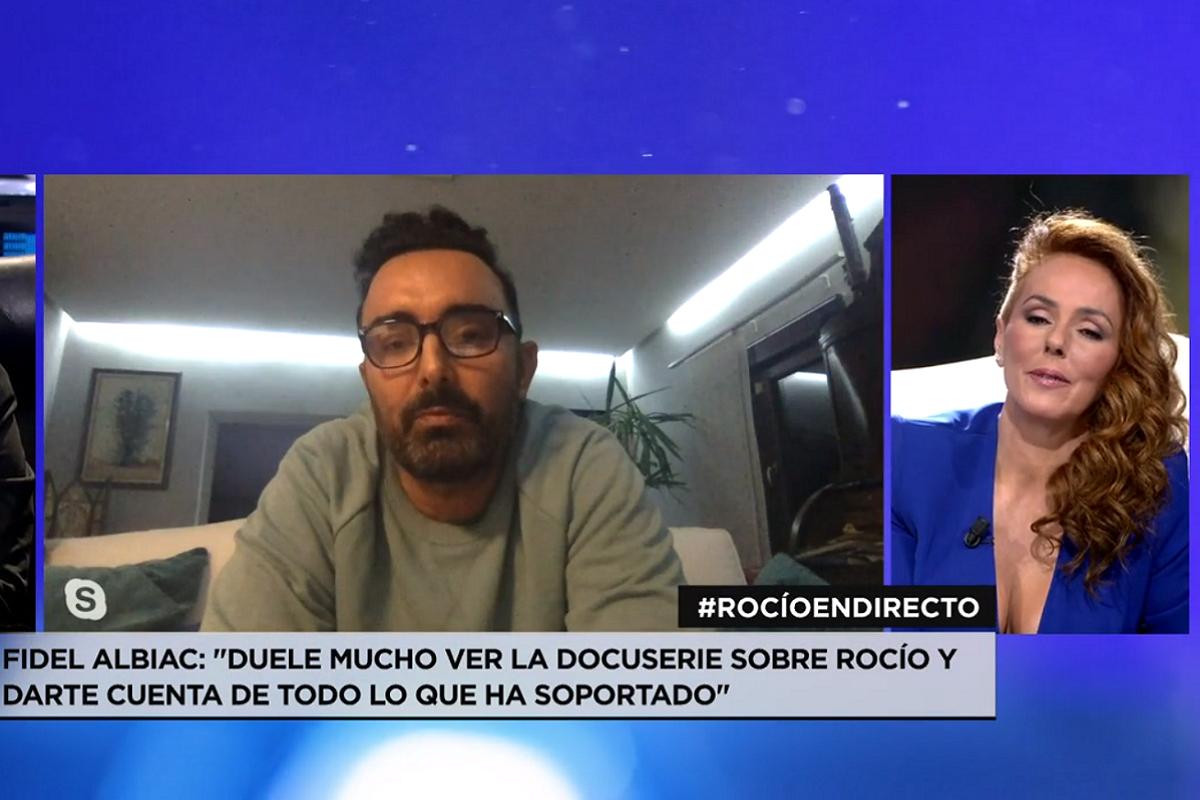 Así ha sido la aparición de Fidel Albiac en televisión para apoyar a Rocío Carrasco.