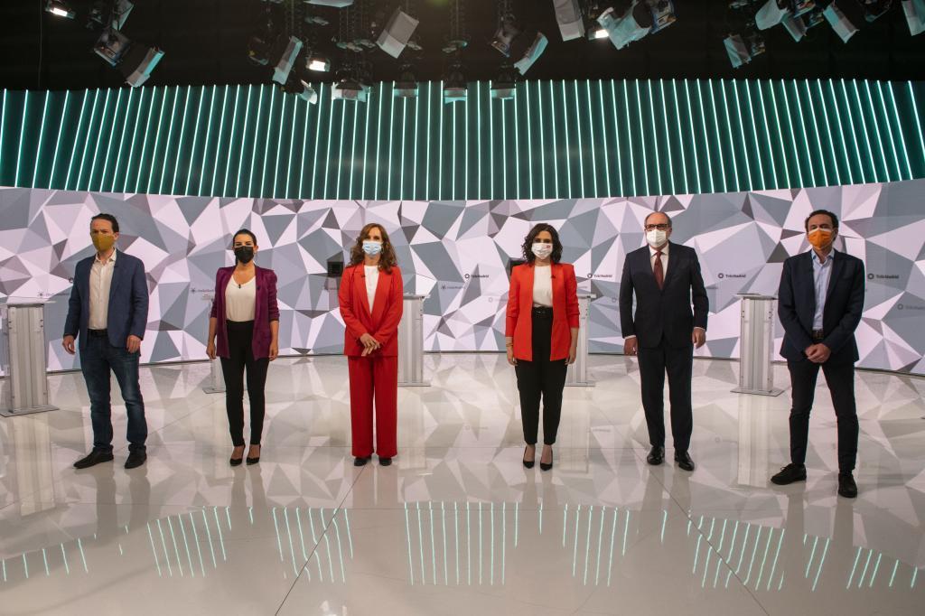 Candidatos en el debate de Telemadrid