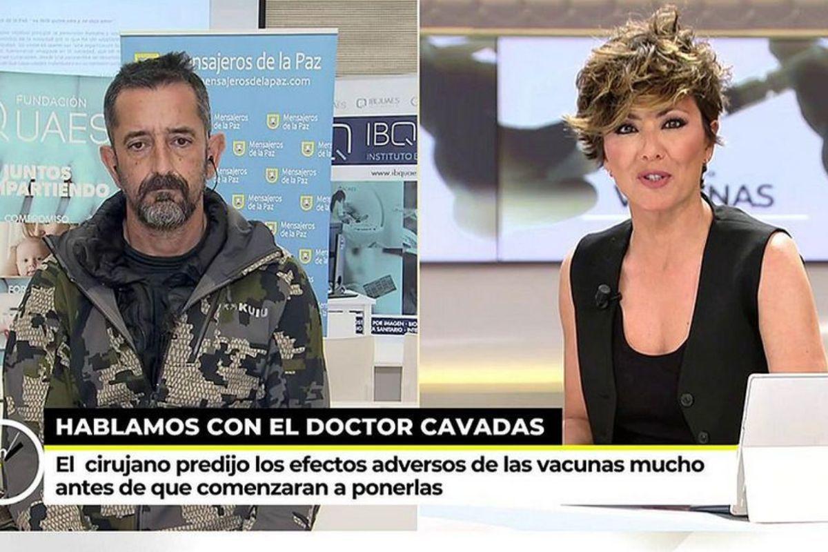 """La respuesta viral del doctor Cavadas a Sonsoles Ónega en Telecinco: """"Soy cirujano, no experto en vacunas"""""""